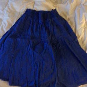 Layered long cotton skirt